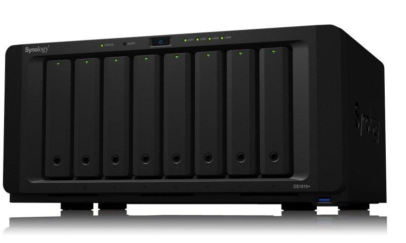 Synology DS1819+ 64TB (8 x 8TB TOSH ENT) - 8 Bay Desktop NAS Unit