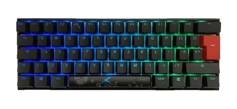 One2 Mini 60% RGB USB Mechanical Gaming Keyboard Black Cherry MX Switch UK Layout