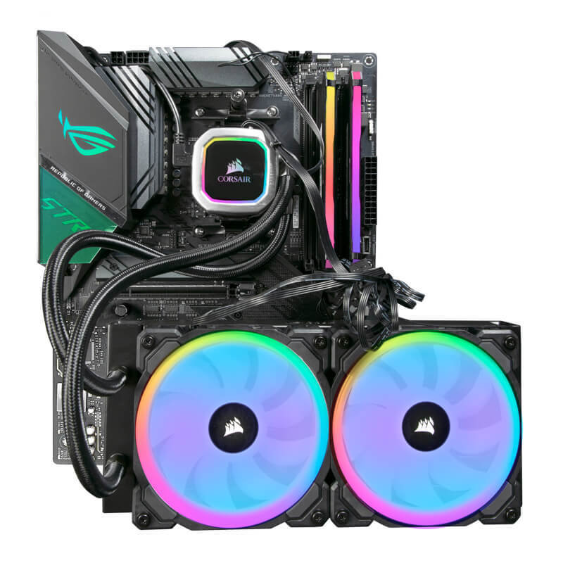 Image of AlphaSync Custom PC Bundle - AMD Ryzen 9 3900XT CPU, ASUS ROG STRIX X570-F Gaming Motherboard, 16GB DDR4 Corsair RGB Pro, Corsair Hydro H100i RGB Platinum