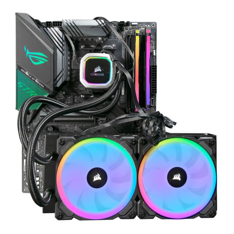 Image of AlphaSync Custom PC Bundle - AMD Ryzen 9 3900XT CPU, ASUS ROG STRIX X570-F Gaming Motherboard, 32GB DDR4 Corsair RGB Pro, Corsair Hydro H100i RGB Platinum