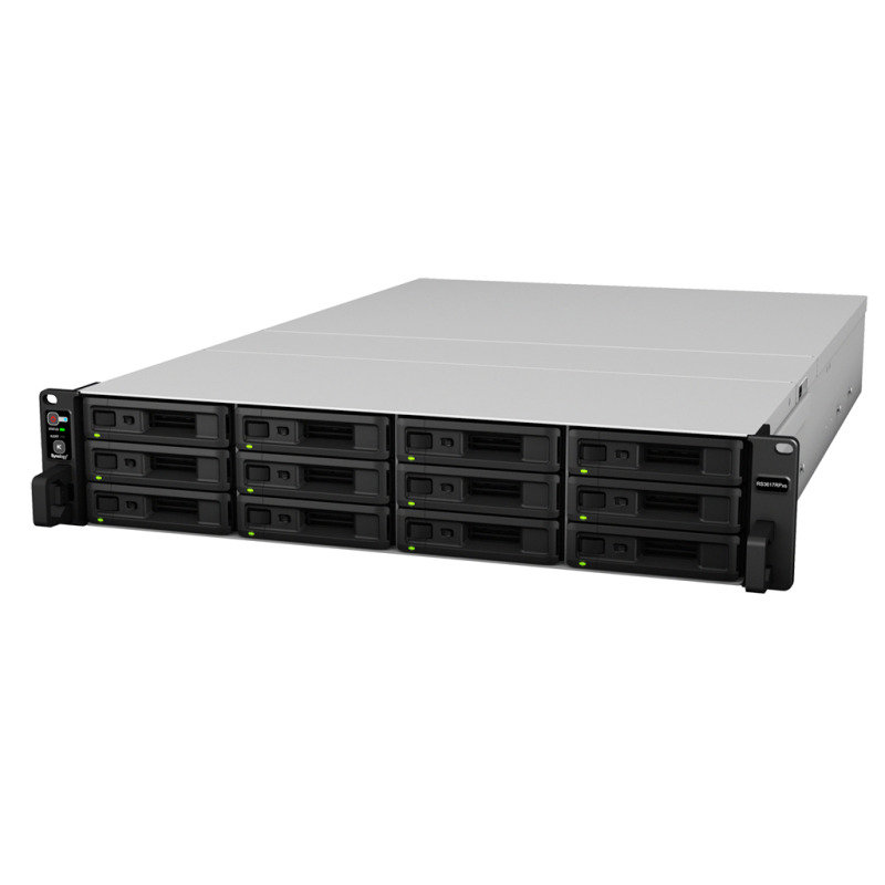Synology RS3617RPxs 96TB (12 x 8TB TOSH-ENT) - 12 Bay Rack NAS Unit