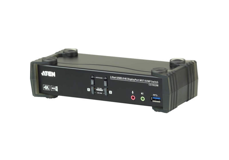 Aten CS1922M-AT-E - KVM Switch - 2 Port - USB 3.0 - 4K DisplayPort MST