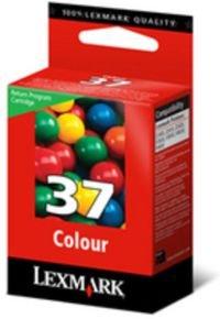 Lexmark Cartridge No. 37 - Print cartridge - 1 x colour (cyan, magenta, yellow) - 150 pages - LRP