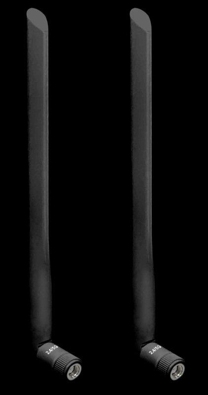 Image of Draytek ANT-1205B - 5dBi High-Gain Dual-Band Aerials - Black