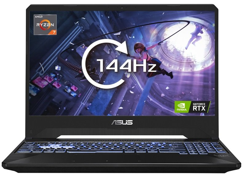 "ASUS TUF FX505DV Ryzen 7 16GB 512GB SSD RTX 2060 15.6"" Win10 Home Gaming Laptop"