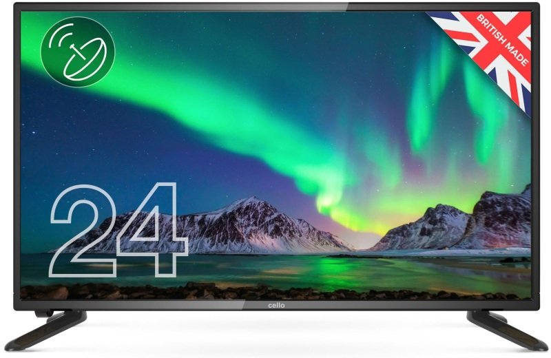 """Cello C2420S 24"""" HD Ready LED Digital TV with Built-in Freeview T2 HD & Satellite Tuner"""