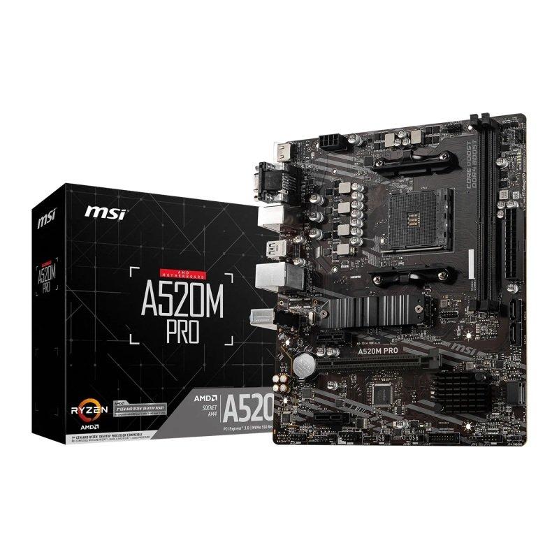 MSI AMD Ryzen A520M PRO AM4 MicroATX Motherboard
