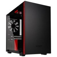 EXDISPLAY NZXT H200i Black/Red Mini Tower Gaming PC Case