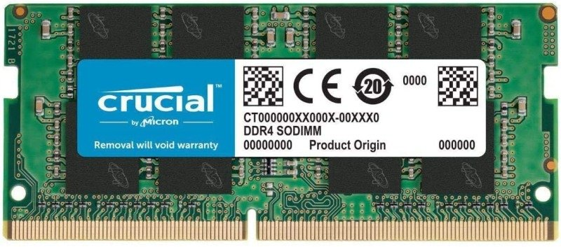 Crucial CT8G4SFRA266 8 GB (DDR4, 2666 MT/s, PC4-21300, SODIMM, 260-Pin) Memory