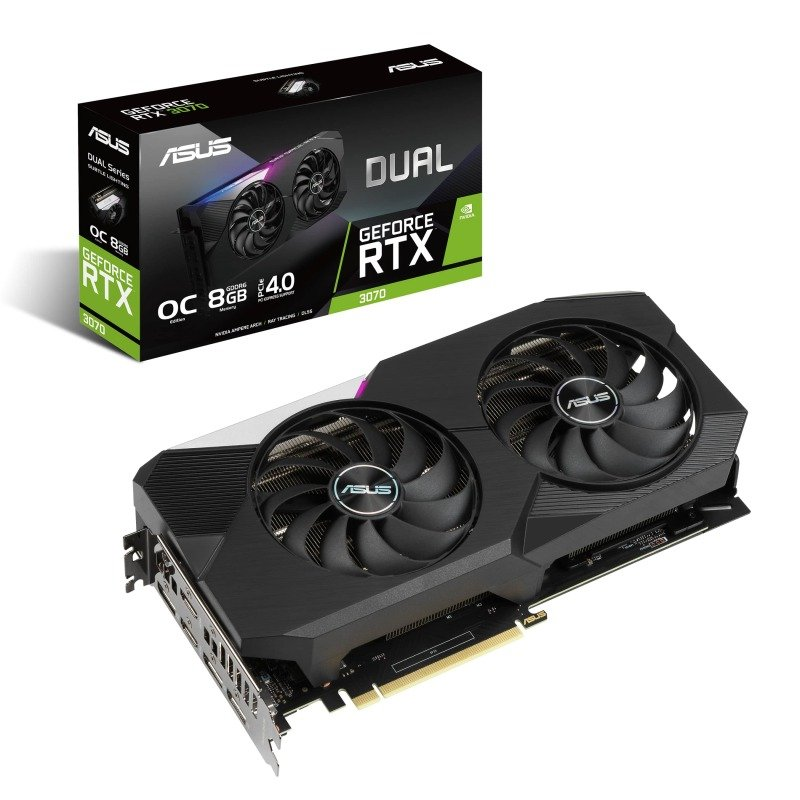 Asus GeForce RTX 3070 8GB  DUAL OC Ampere Graphics Card