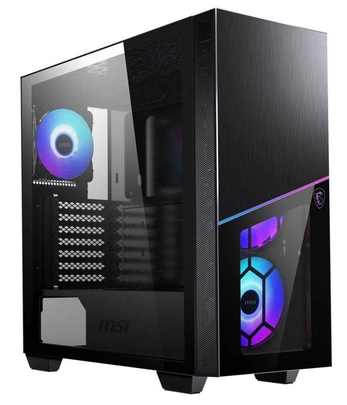 MSI MPG SEKIRA 100R Black Mid Tower Tempered Glass RGB PC Gaming Case