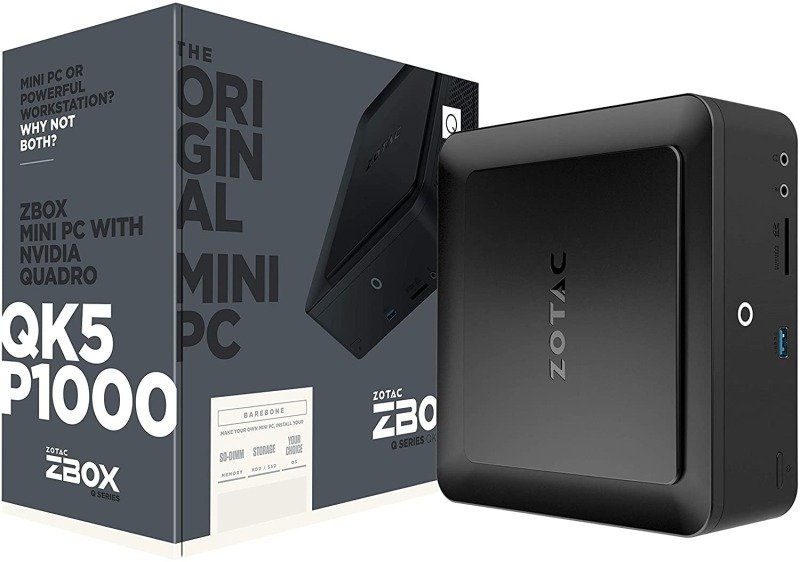 Zotac Q-Series ZBOX Intel i5 Quadro P1000 Mini PC Barebone