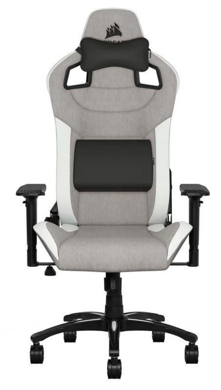 Image of Corsair T3 RUSH Gaming Chair Grey/White
