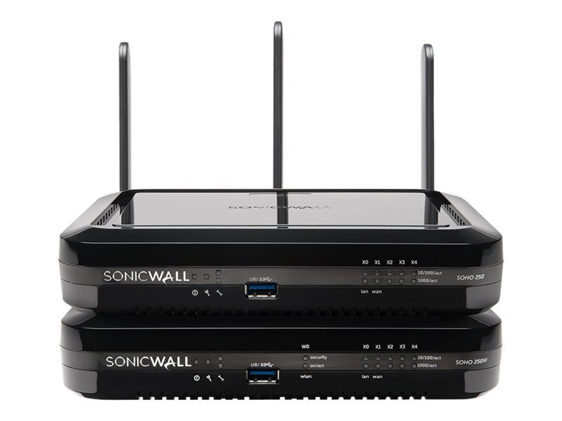 SonicWall SOHO 250 - Security Appliance - With 3 years SonicWALL Advanced Gateway Security Suite