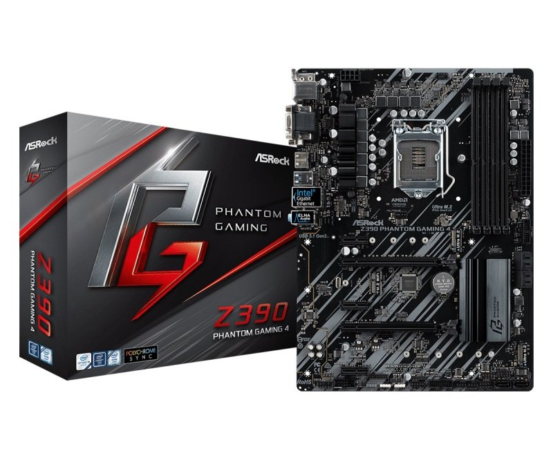 EXDISPLAY ASRock Z390 Phantom Gaming 4 1151 DDR4 ATX Motherboard