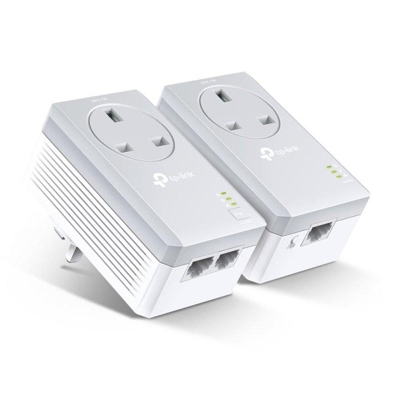 TP-Link TL-PA4022P KIT AV600 2-port Passthrough Powerline Starter Kit