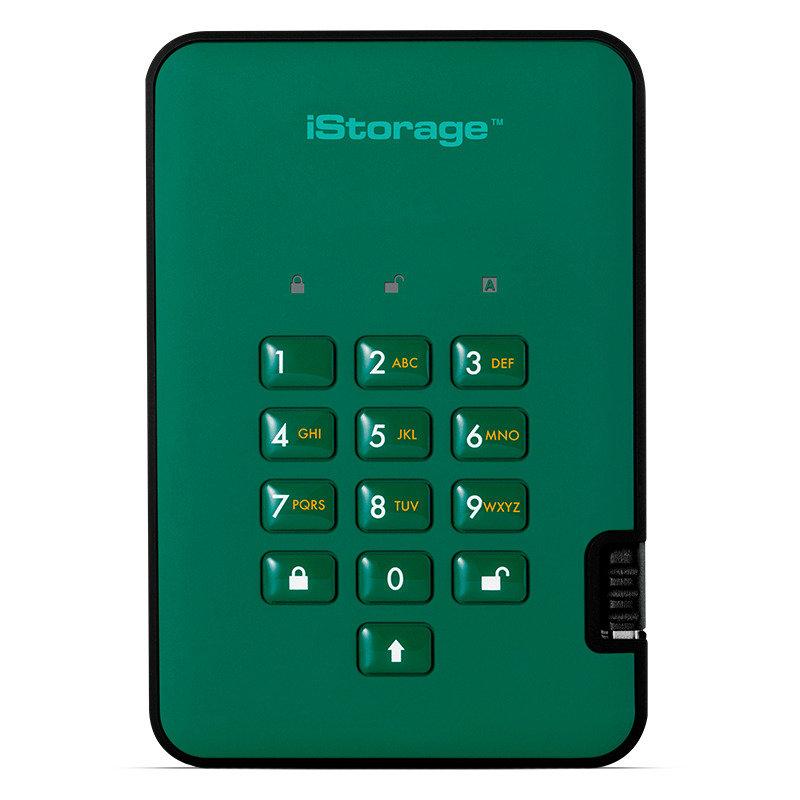 Image of iStorage 128GB diskAshur2 SSD - Racing Green