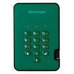 iStorage diskAshur2 256-bit 8TB USB 3.1 secure encrypted solid-state drive - Racing Green