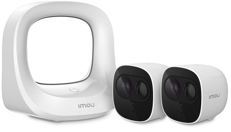 Imou Cell Pro Full HD Wire Free Smart Battery Twin Camera Kit With Base Station - Works with Alexa and Google Assistant