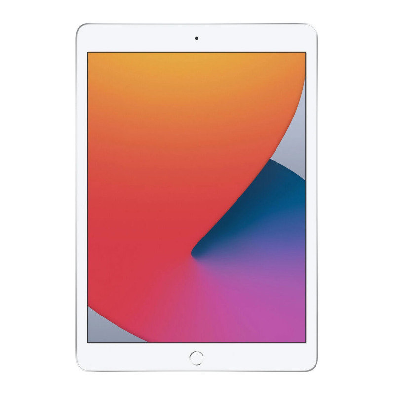 Image of Apple iPad 10.2'' 128GB Wi-Fi + Cellular Tablet (8th Gen) - Silver
