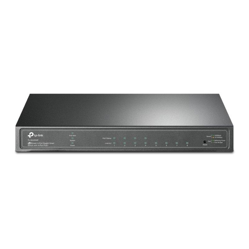TP-Link TL-SG2008P - JetStream 8-Port Gigabit Smart Switch - 4-Port PoE+