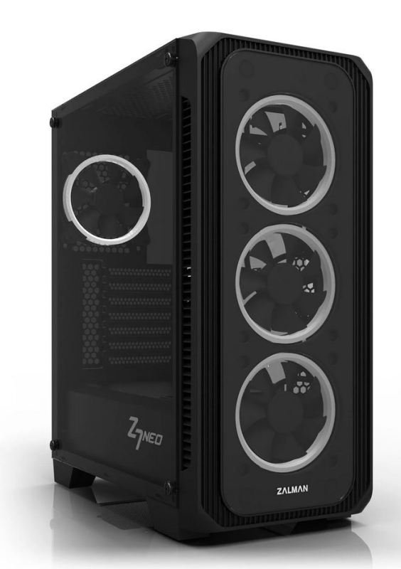 Zalman Z7 NEO Mid Tower Gaming Case with Tempered Glass Window