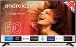 """Cello C5020G 50"""" Smart Android TV with Google Assistant and Freeview Play"""
