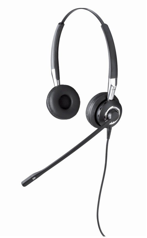 EXDISPLAY Jabra Biz 2400 Wired Duo Headset with Noice Cancelling Microphone