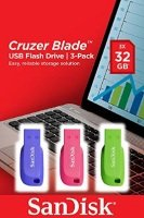 Cruzer Blade USB Flash Drive 3pack 32GB