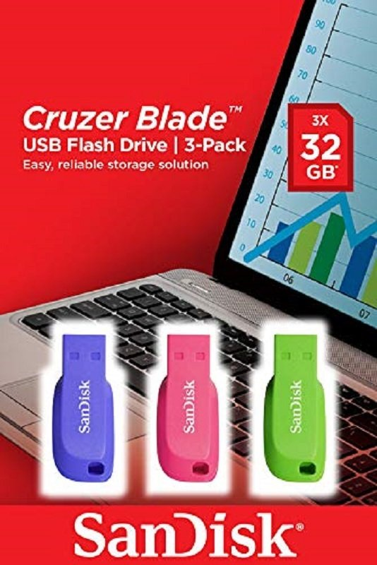 Image of Cruzer Blade USB Flash Drive 3pack 32GB