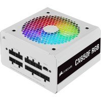 Corsair CX-F RGB Series 650W 80 Plus Bronze Fully Modular PSU Power Supply - White