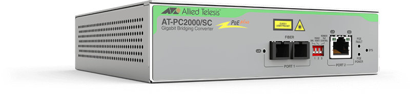 Allied Telesis PC2000/SC - Transceiver/Media Converter - 2 Ports