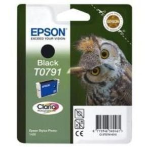 *Epson T0791 11ml Black Ink Cartridge with RF Tag