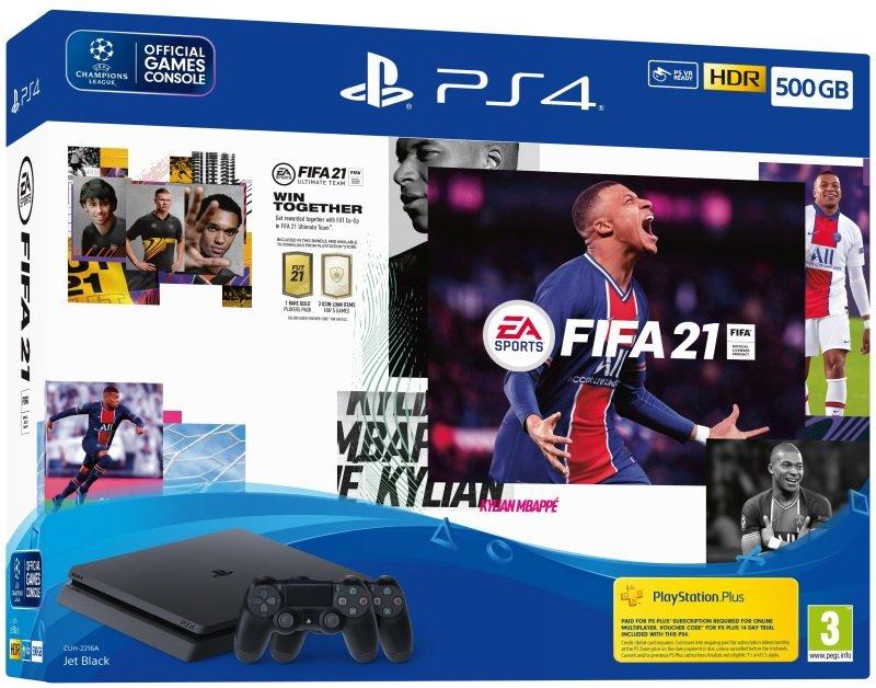 EA SPORTS FIFA 21 500GB PS4 Console + Second DUALSHOCK4 Wireless Controller Bundle