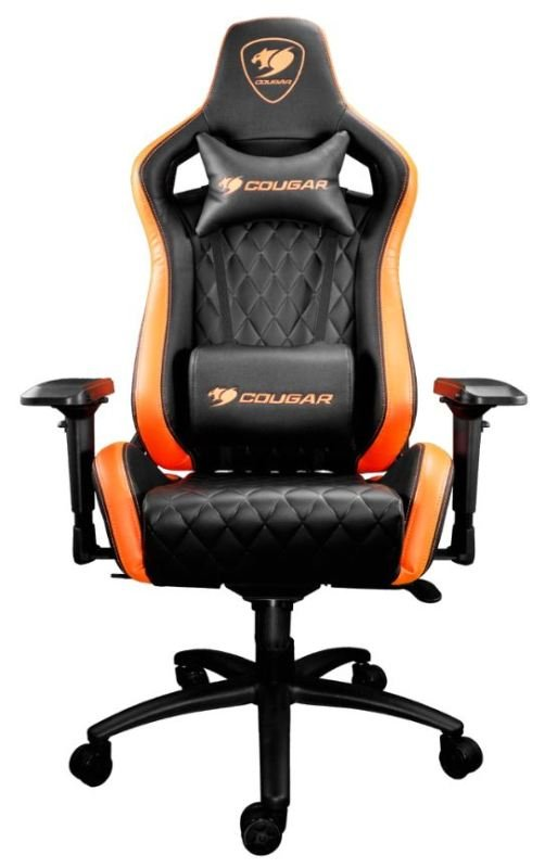 Cougar Armor S Gaming Chair with Reclining and Height Adjustment (Black and Orange)