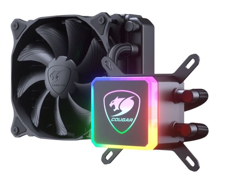 Cougar Aqua 120 mm CPU Liquid Cooling with Addressable RGB and a Remote Controller