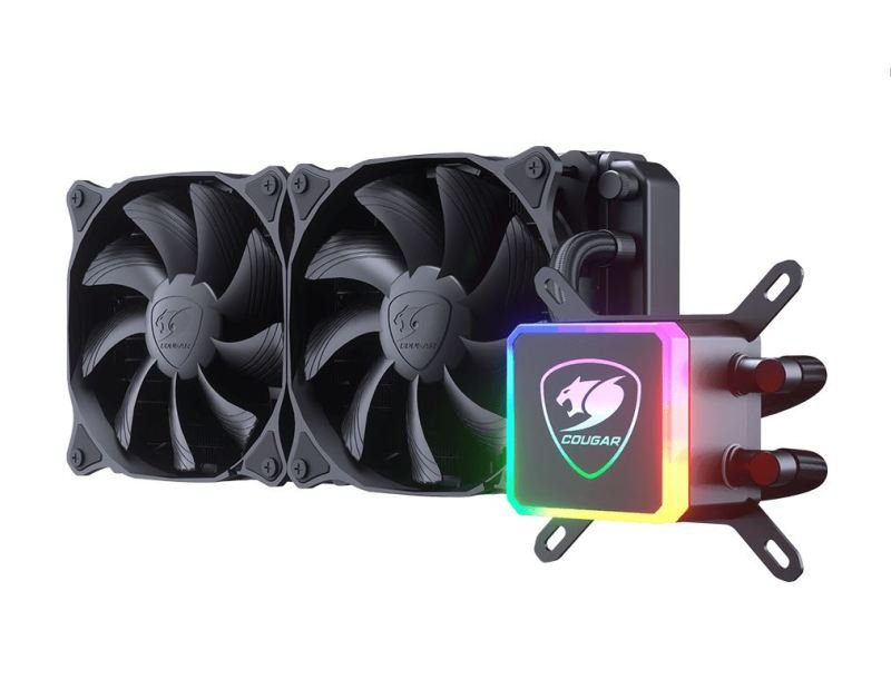 Image of Cougar Aqua 240mm CPU Liquid Cooling with Addressable RGB and a Remote Controller