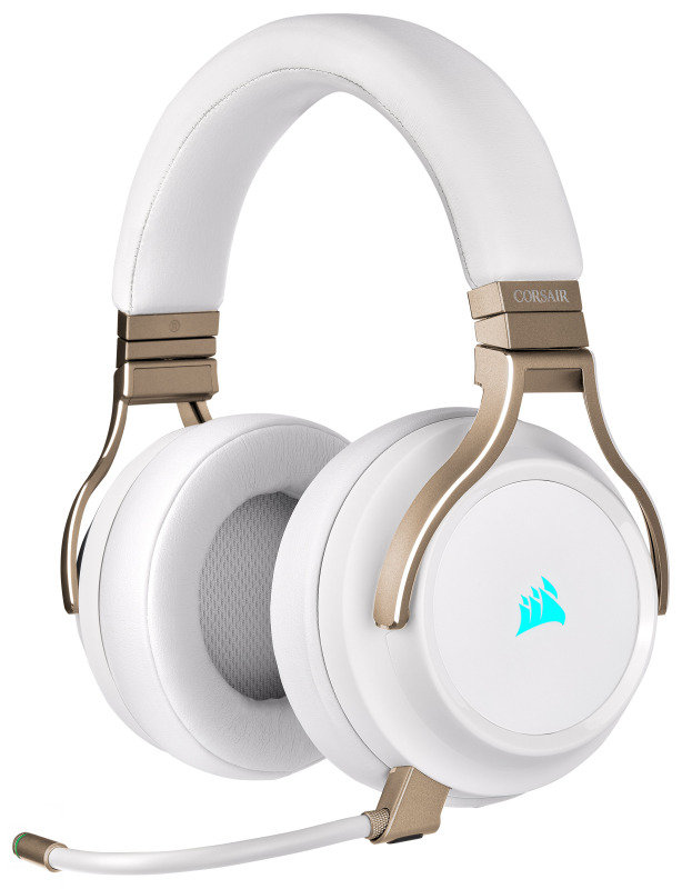 Corsair Virtuoso RGB Wireless High-Fidelity Gaming Headset with 7.1 Surround Sound - Pearl