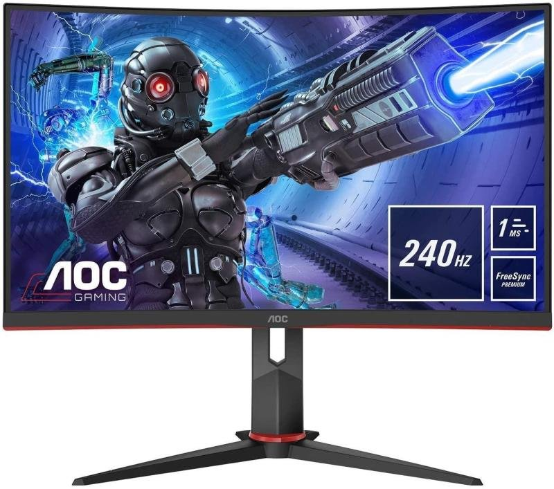"AOC C32G2ZE/BK 31.5"" Full HD FreeSync 240Hz Curved Gaming Monitor"
