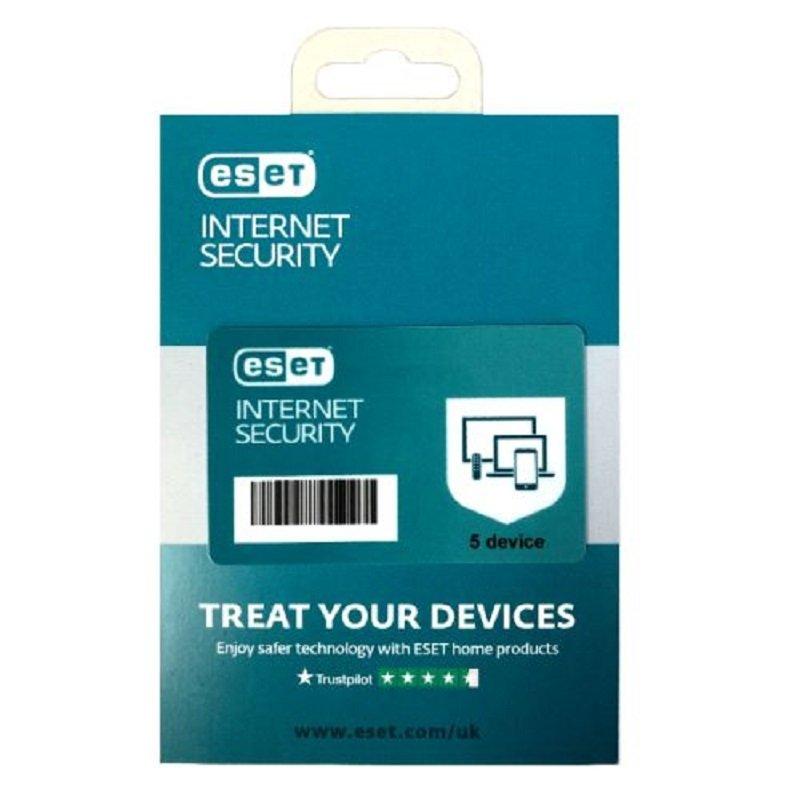 ESET Internet Security Retail Box Single - Single 5 Device Licence - 1 Year