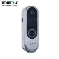 Ener-J Slim Wireless Video Door Bell with 2 Way Audio