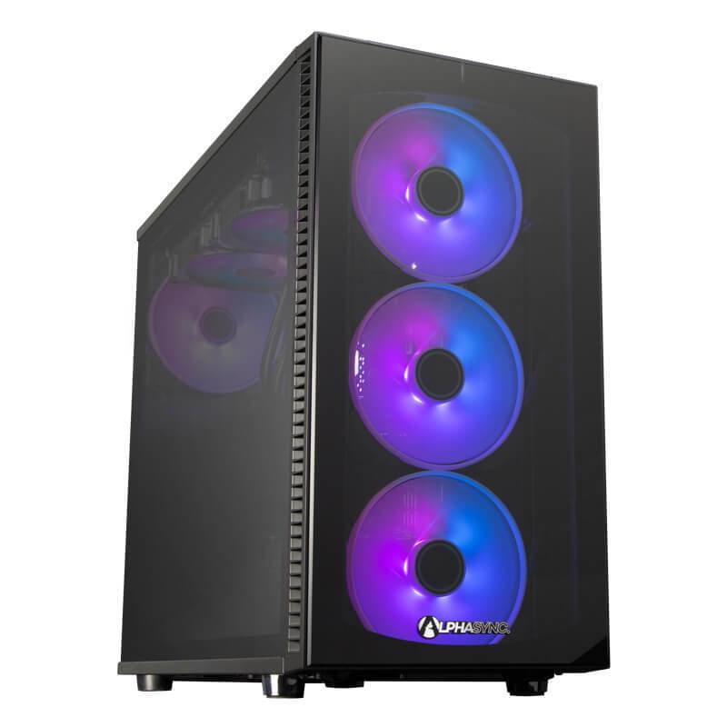 AlphaSync RTX 3090 AMD Ryzen 9 64GB RAM 4TB HDD 1TB SSD Gaming Desktop PC