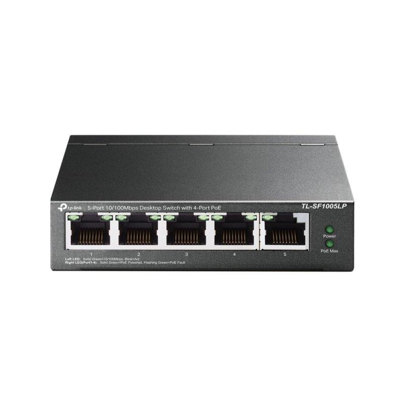 TP-Link TL-SF1005LP 5-Port 10/100Mbps Desktop Switch with 4-Port PoE
