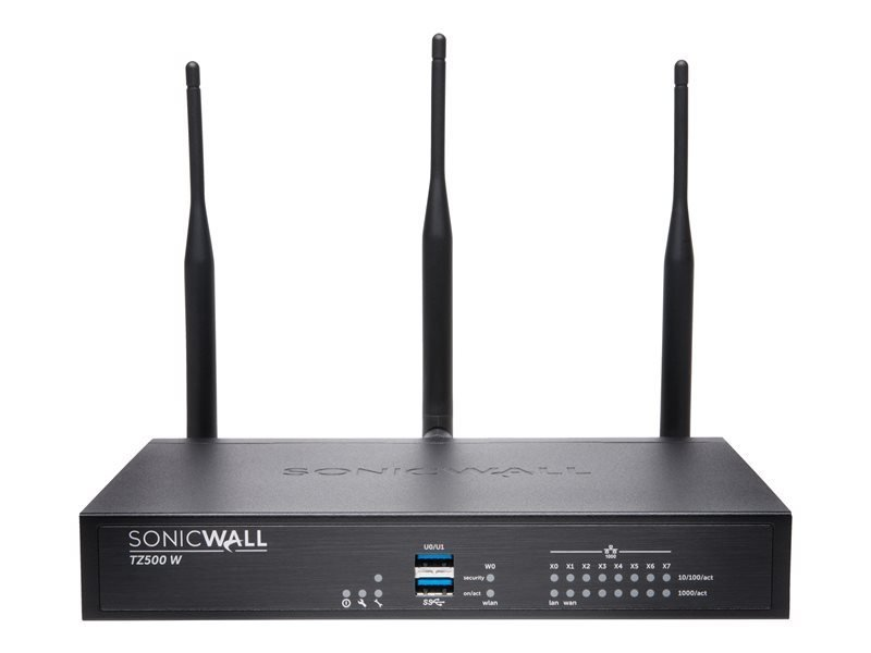 SonicWall TZ500 Wireless-AC - Advanced Edition - Security Appliance - with 3 years Advanced Threat D