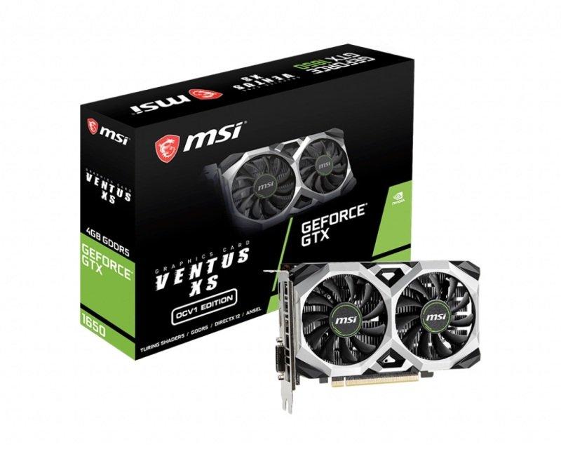 MSI GeForce GTX 1650 VENTUS XS 4GB OCV1 Graphics Card