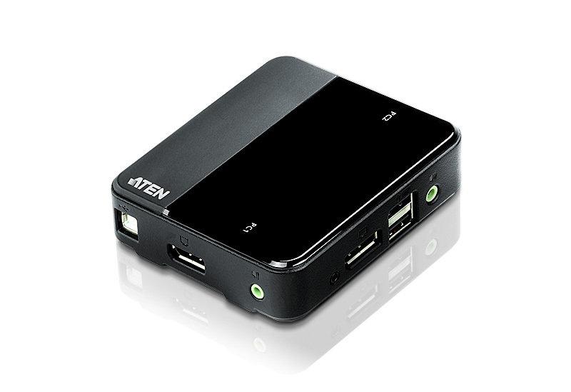 Aten CS782DP - 2-Port USB DisplayPort/Audio KVM Switch