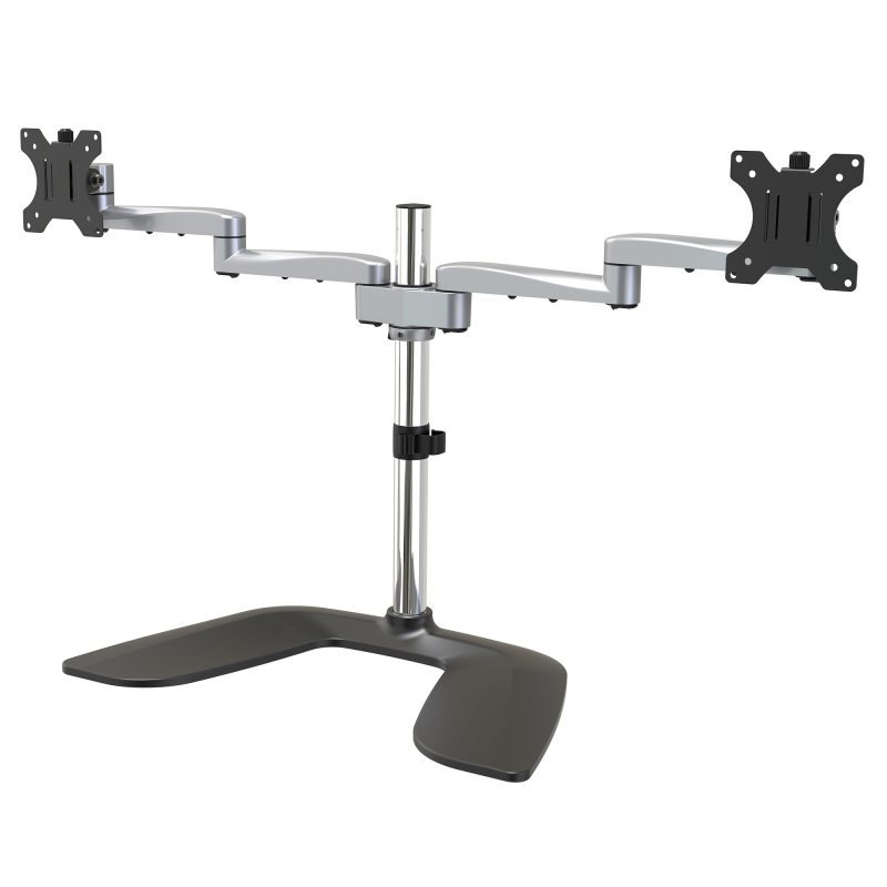 """Image of Startech Dual Monitor Stand - Ergonomic Desktop Monitor Stand for up to 32"""" VESA Displays"""