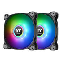 Thermaltake Pure Duo 12 120mm Black ARGB Sync Radiator Fans - 2 Pack