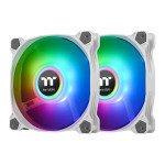 Thermaltake Pure Duo 12 120mm White ARGB Sync Radiator Fans - 2 Pack