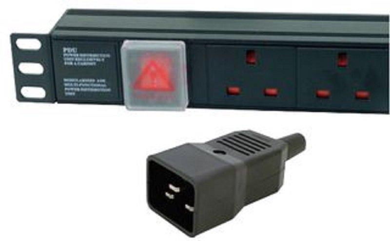 Dynamode - 1U 8 Way Vertical UK 13A Switched PDU > IEC20